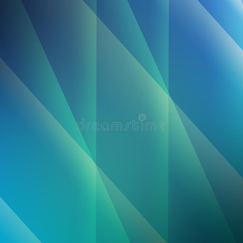 Geometric minimalist abstract background in trendy blue and green colors royalty free illustration