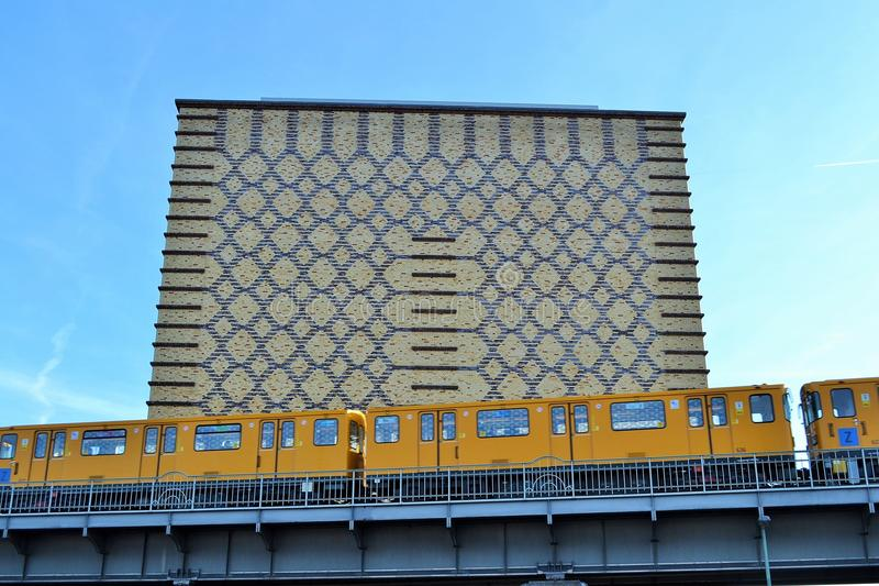 Geometric modern building Berlin stock photos