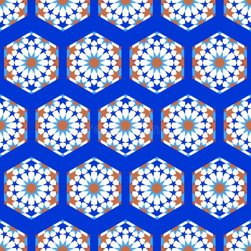 The Mosque Ramadan Logo Template Luxury: Hexagon Mosque Arabic Pattern Background. Islamic Ornament