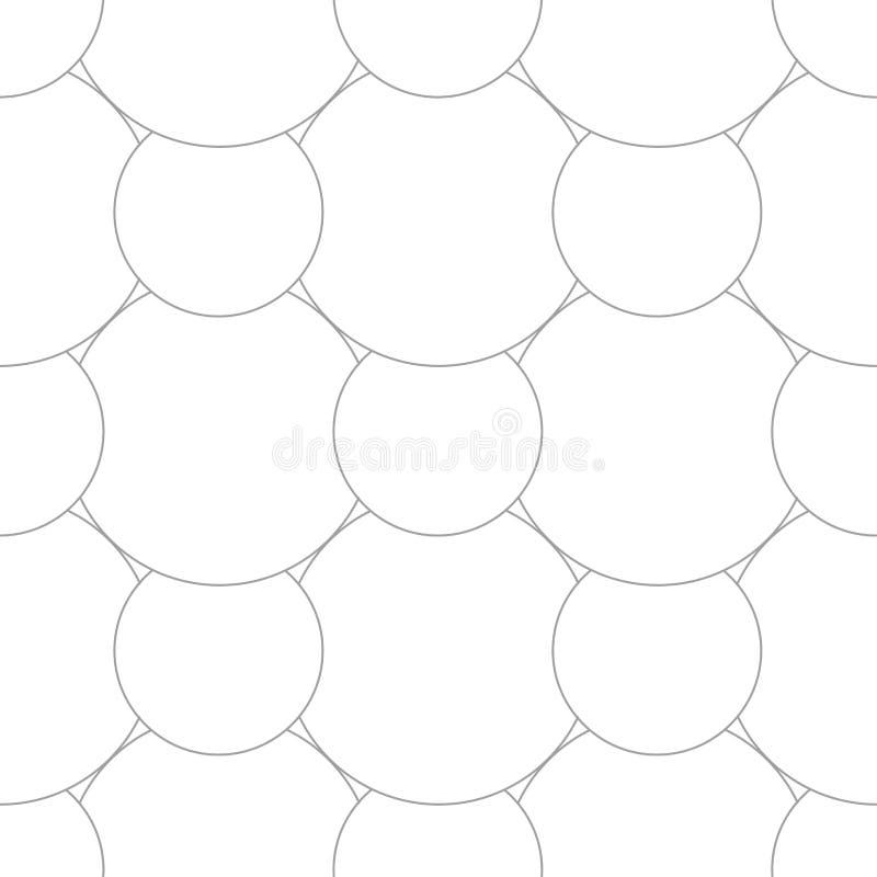 Geometric ornament. Light gray seamless pattern royalty free illustration