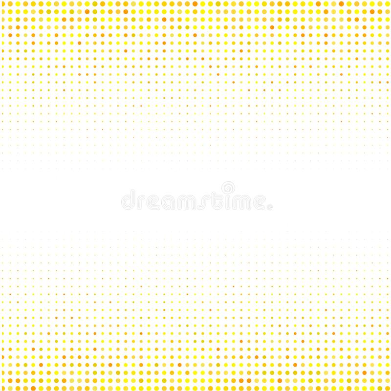 The geometric ornament from yellow dots on white background. royalty free illustration