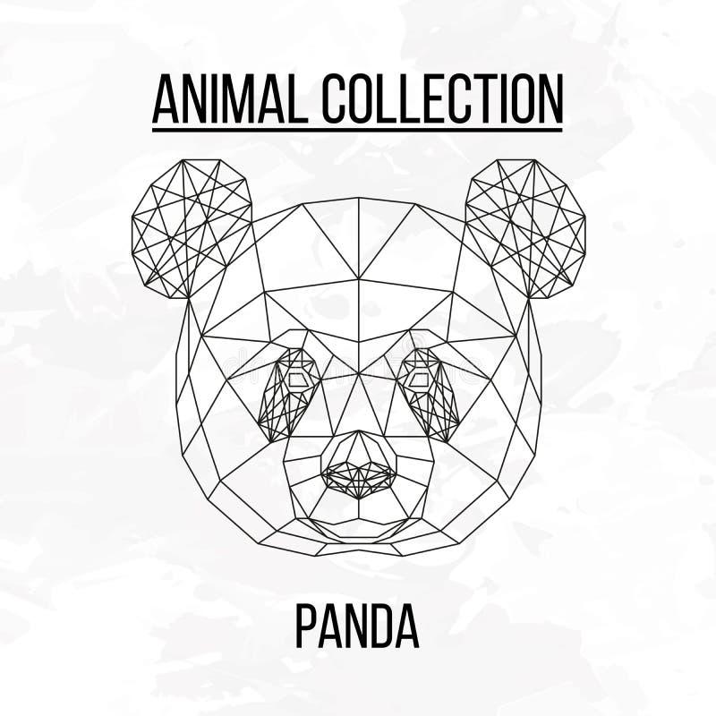 Geometric panda head royalty free illustration