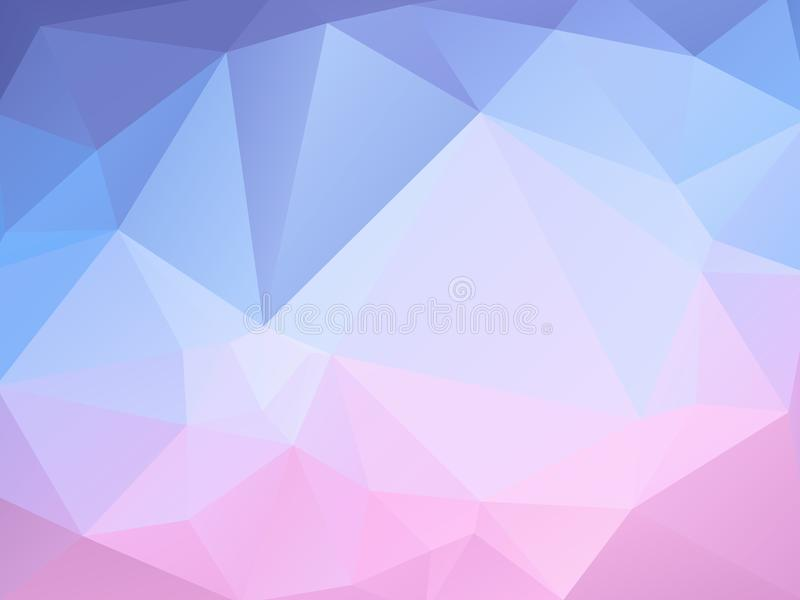 Geometric pastel pink blue background stock illustration