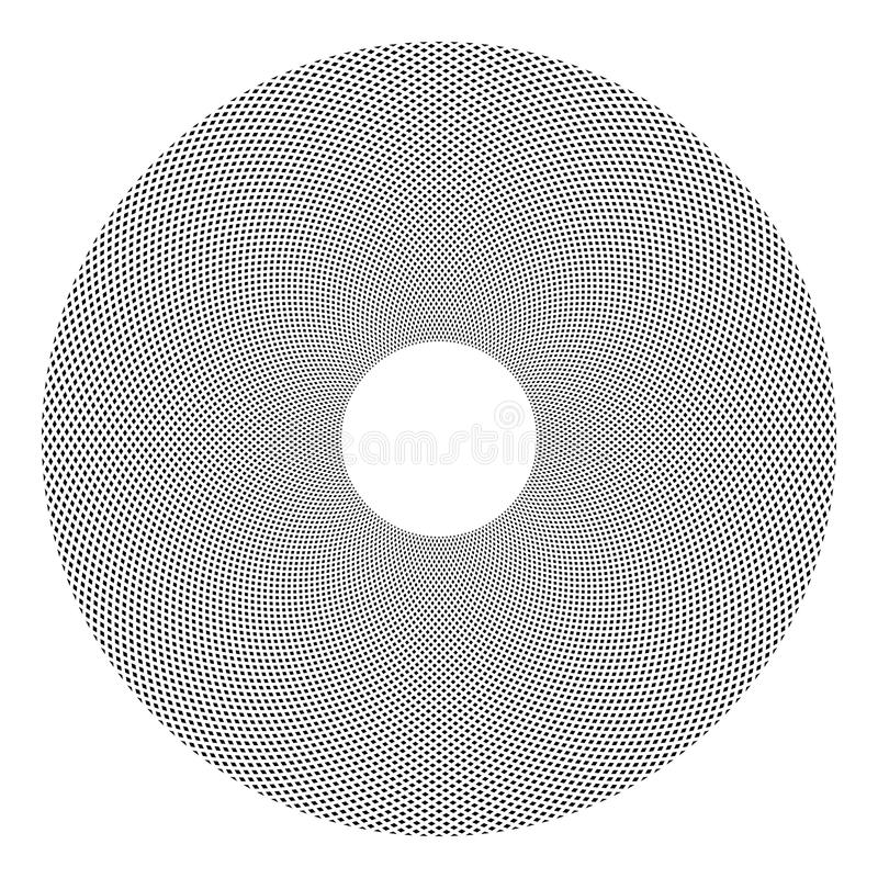 Dots pattern in circle shape. Geometric pattern in circle shape. Dots texture. Vector art vector illustration