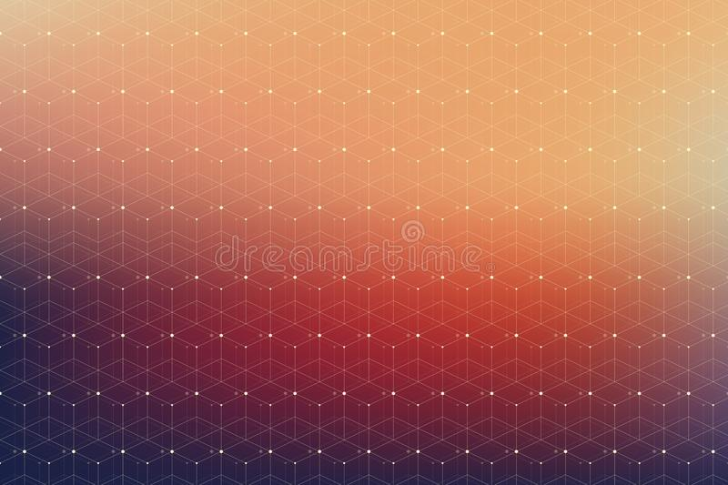 Geometric pattern with connected line and dots. Geometric pattern with connected line and dots stock image