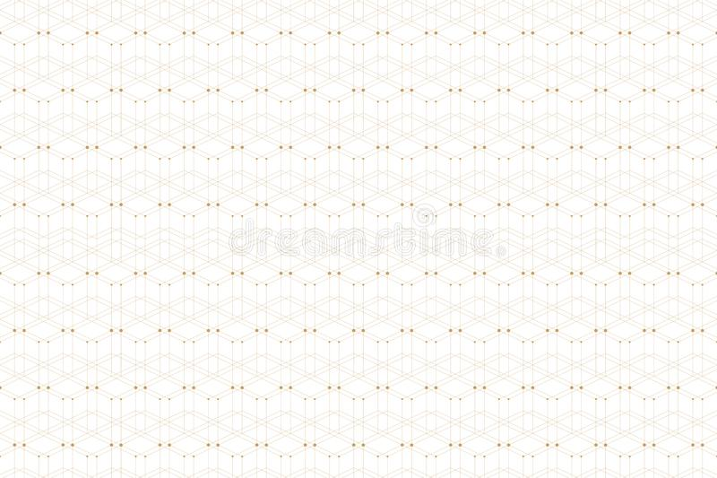 Geometric pattern with connected line and dots. Graphic background connectivity. Modern stylish polygonal backdrop for royalty free illustration