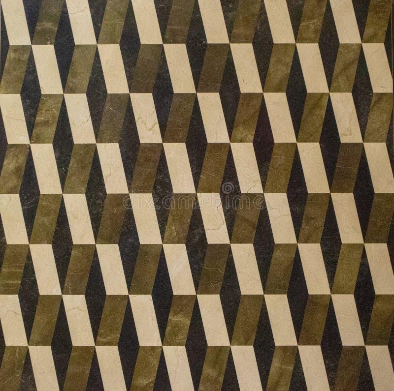 Geometric pattern floor tile ceramic. Geometric pattern indoor floor tile ceramic print texture closeup shoot stock photo