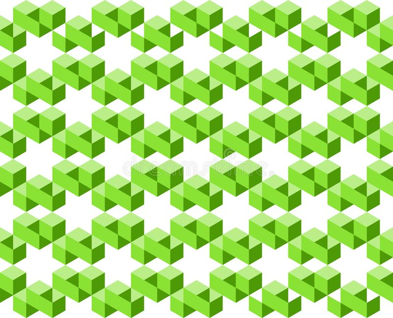 Geometric pattern of green colors isolated on white background, arranged in star shapes- Vector illustration, EPS10. stock illustration
