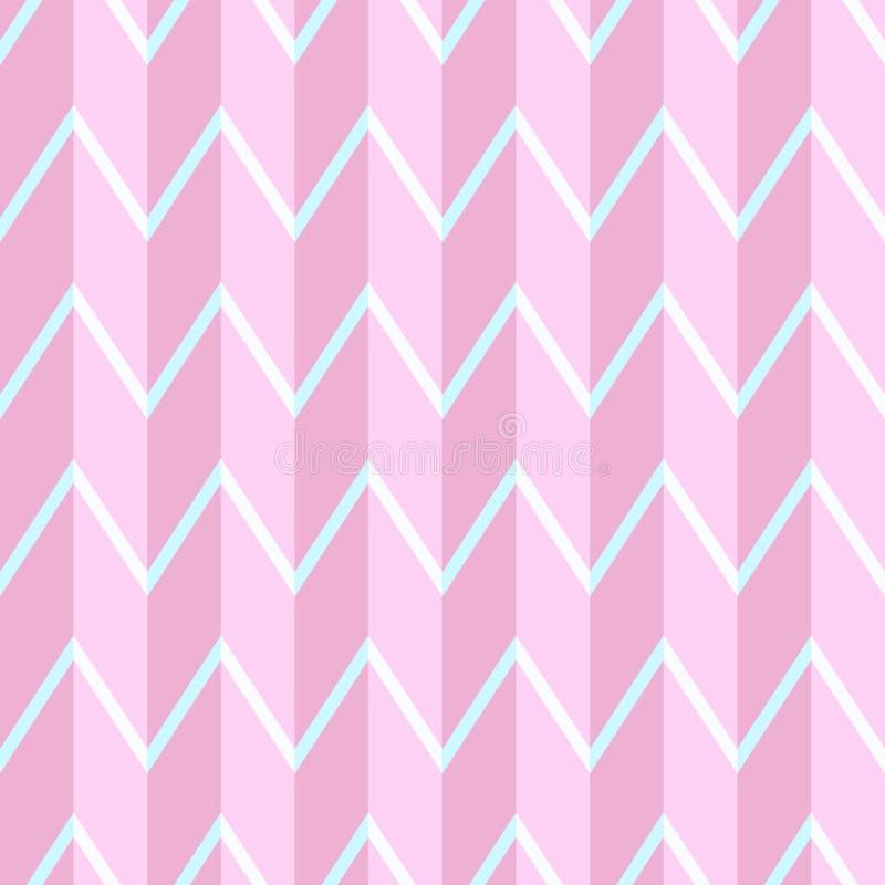 Geometric pattern in light pink tones. Volumetric background, seamless texture. stock illustration