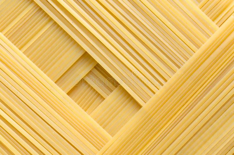 Geometric pattern of pasta bavette stock photography