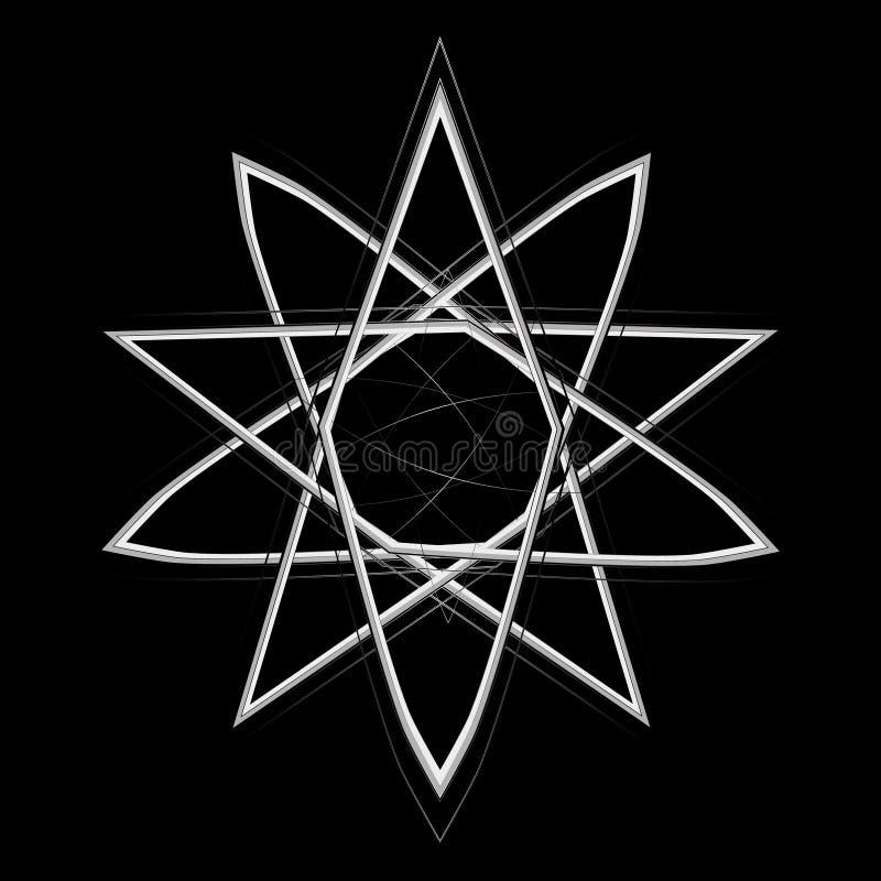 Geometric pattern icon star astrology set pentagram royalty free stock photos