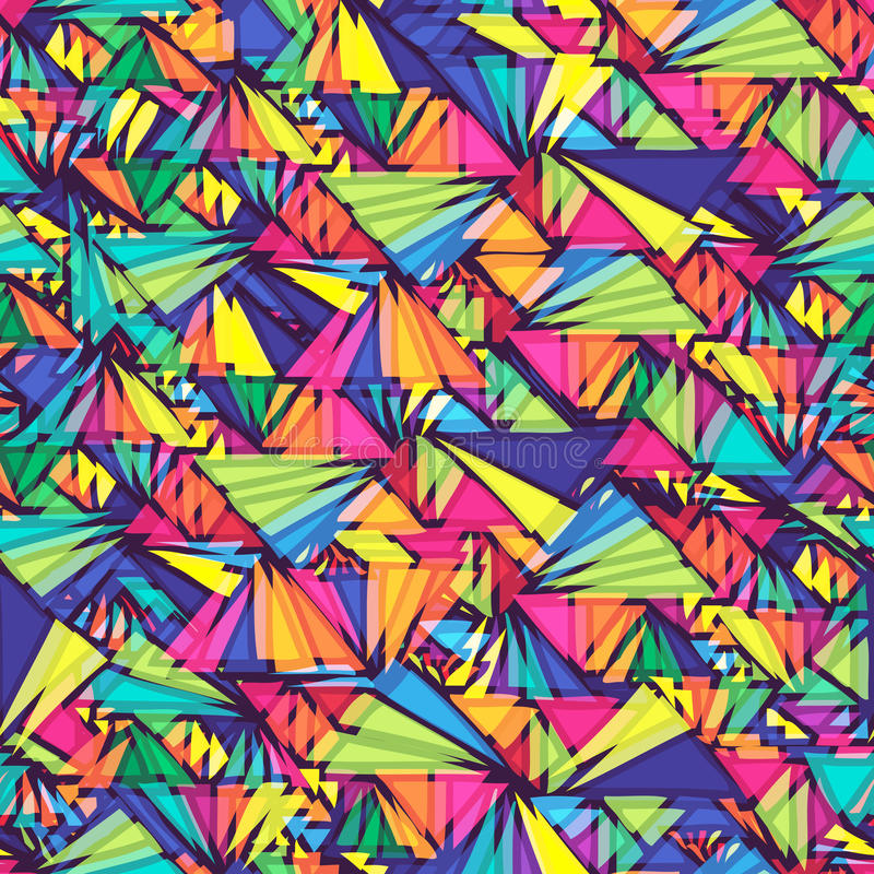 Geometric pattern with triangles. royalty free stock image