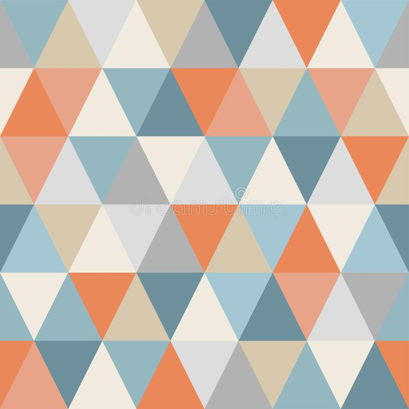 Geometric pattern of triangles. Seamless. Warm and cold colors. vector illustration