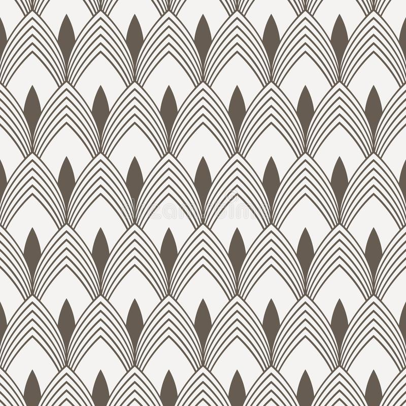 Geometric pattern vector. Geometric simple fashion fabric print. Vector repeating tile texture. Overlapping circles funky theme o. R linear petal of flower or royalty free illustration