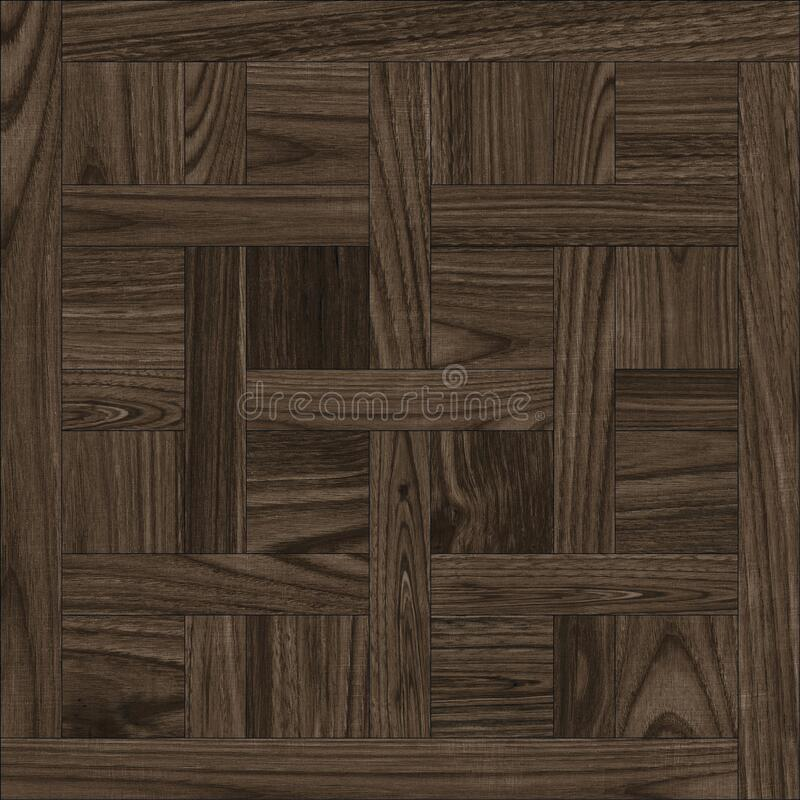 Geometric pattern wooden floor and wall mosaic decor tile stock photography