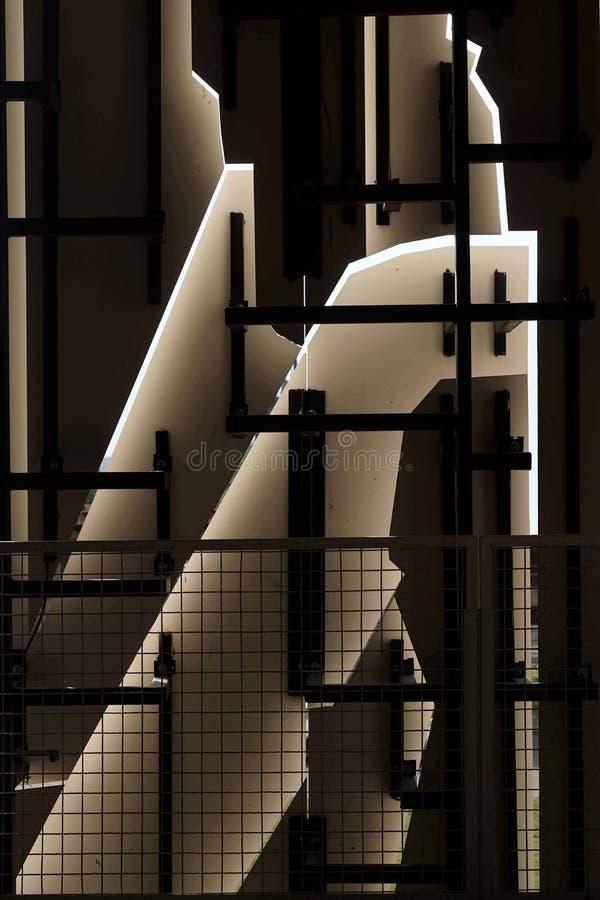 Free Geometric Patternson A Multi-storey Futuristic Garage Facade Royalty Free Stock Photos - 119450508