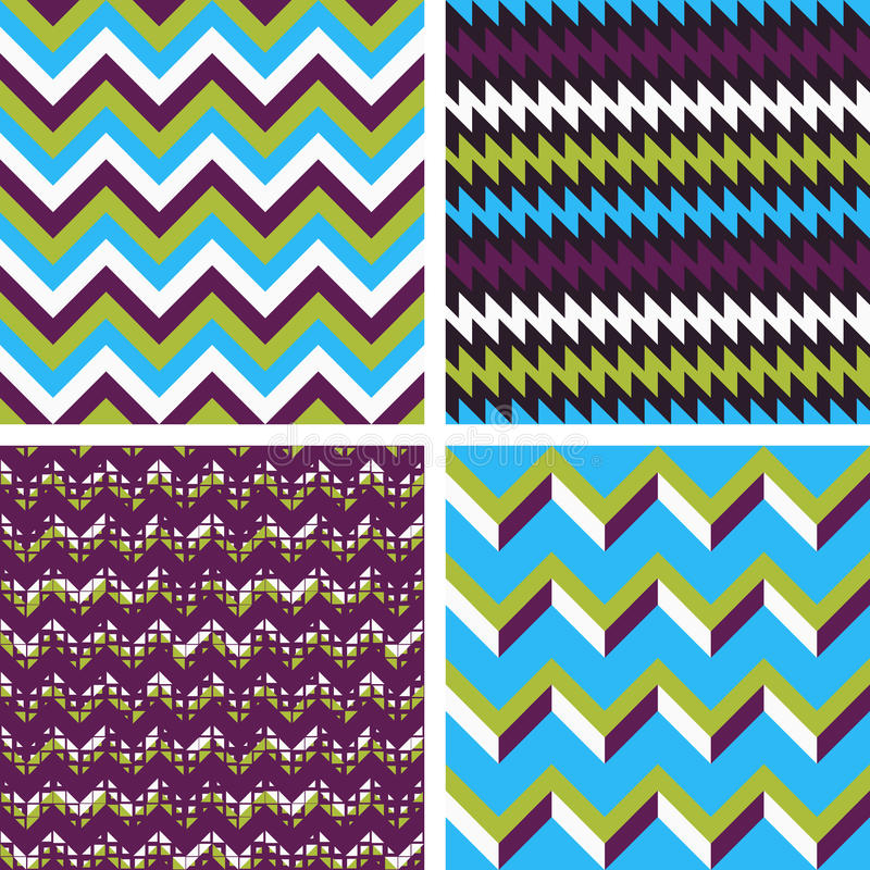 Geometric patterns stock illustration