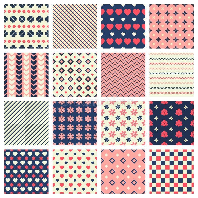 Geometric patterns royalty free illustration