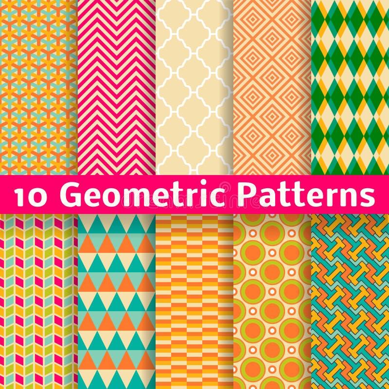 Geometric patterns (tiling). Set of vector royalty free illustration
