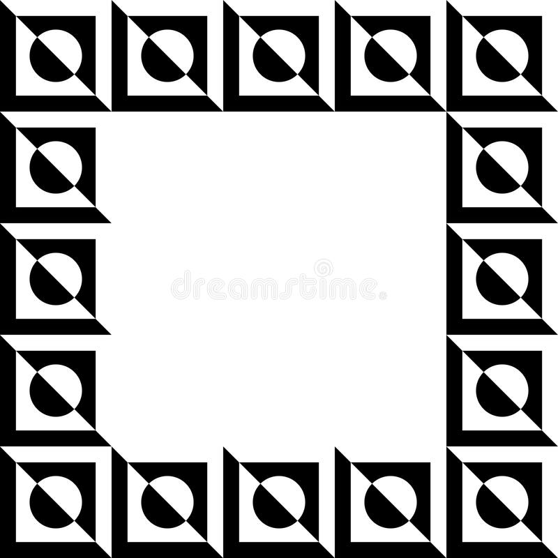 Geometric picture, photo frame in squarish format. stock illustration