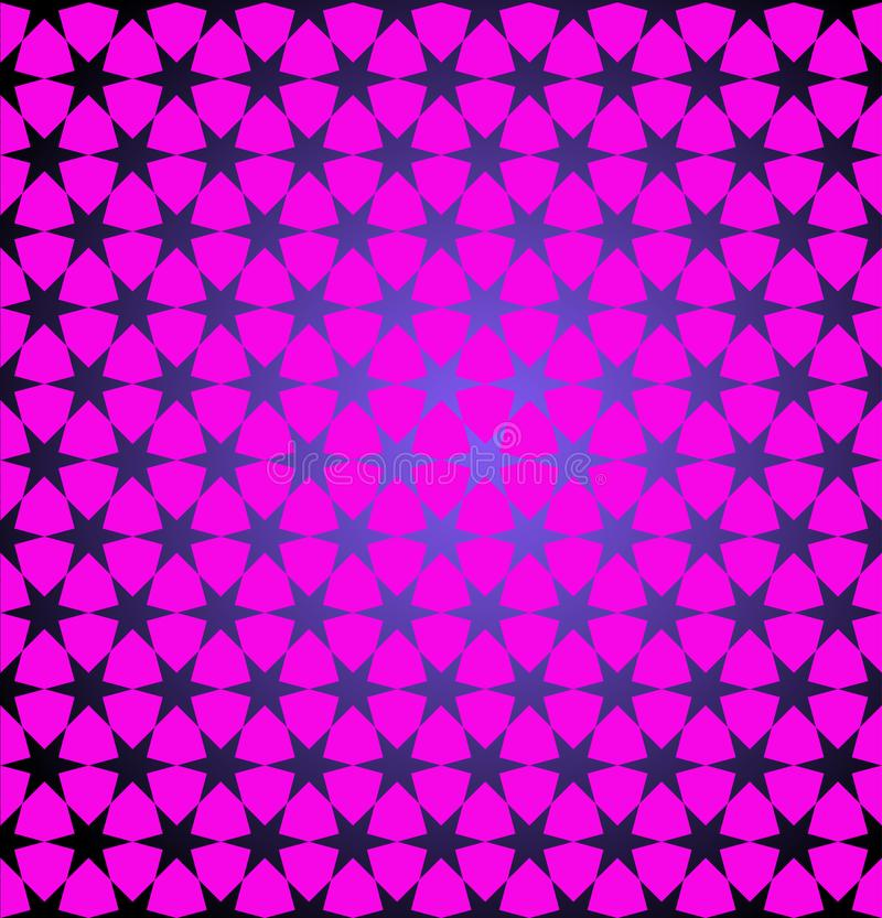 Abstract geometric pink blue background with stars. Vector illustration for decorating websites, posters, banners, flyers, covers. vector illustration