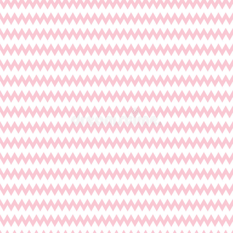 Geometric pink seamless pattern with zigzag. Wrapping paper. Scrapbook paper. Tiling. Vector illustration. Background. Graphic texture for design, wallpaper royalty free illustration