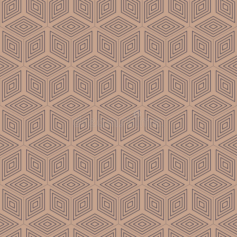 Geometric polygon seamless pattern.Fashion graphic design.Vector illustration. Background design.Optical illusion 3D. Modern styli. Sh abstract texture. Template stock illustration