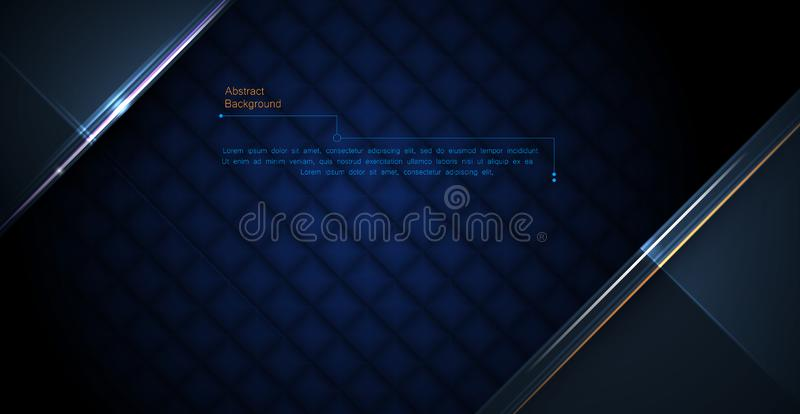 Abstract luxury polygonal and silver, gold dark blue triangle line design for the cover, wallpaper. stock illustration