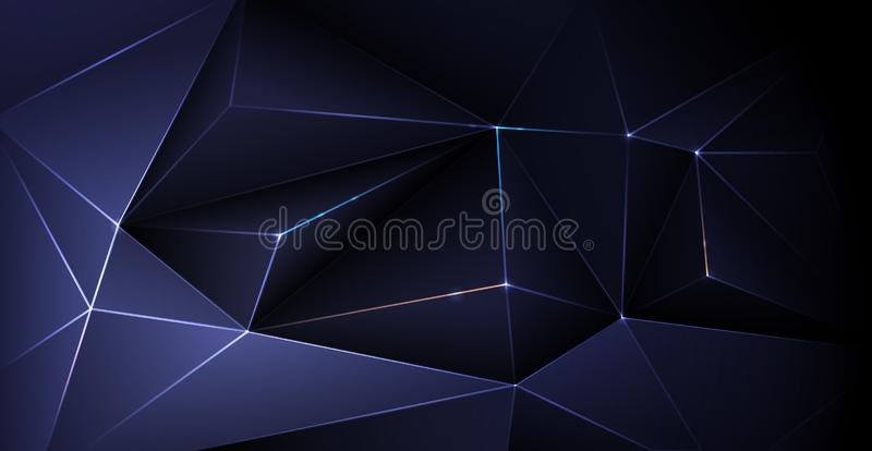 Abstract luxury polygonal and silver, gold dark blue triangle line design for the cover, wallpaper. vector illustration