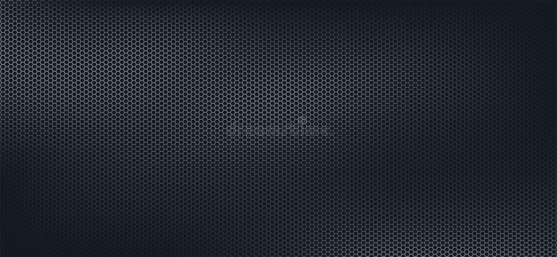 Dark geometric polygons background, dark abstract hexagons wallpaper stock illustration