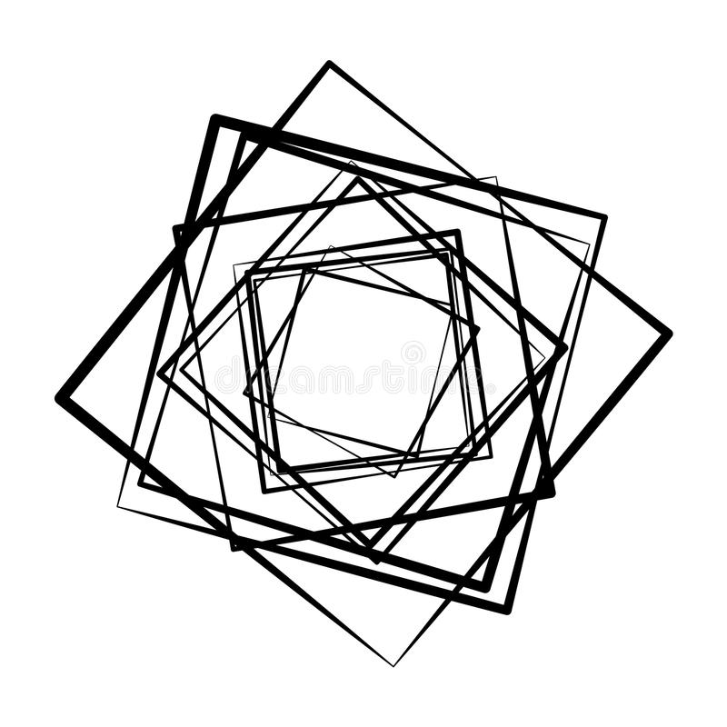 Geometric radial element. Abstract concentric, radial geometric vector illustration