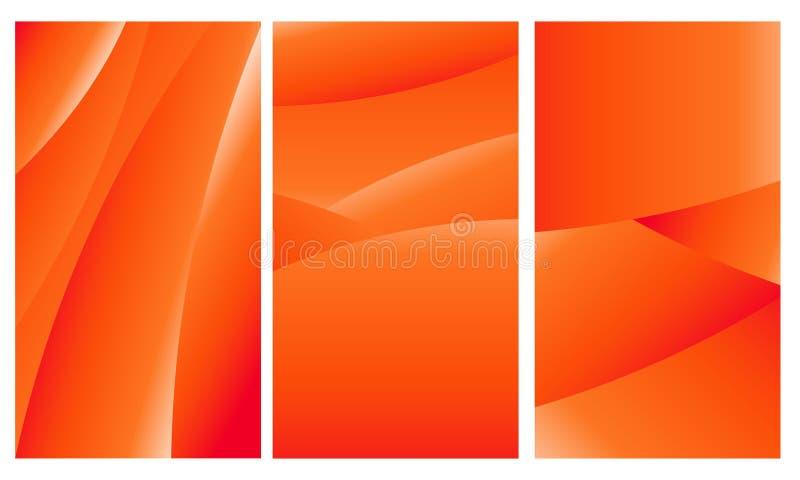 Geometric_red abstrakt bakgrund för den mobila tapeten gul färg vektor illustrationer