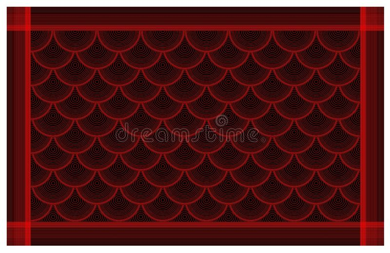 Geometric red and black pattern, seamless geometric colorful pattern texture, background, line ornament royalty free illustration