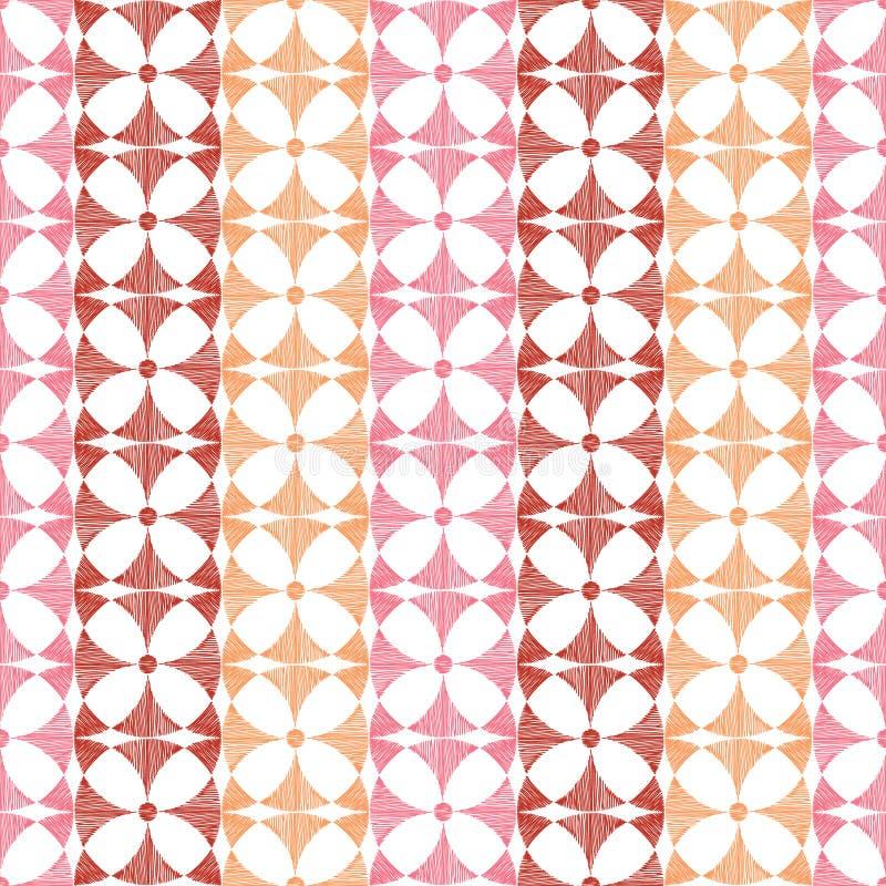 Download Geometric Red Ikat Stripes Seamless Pattern Stock Photo - Image: 31335606