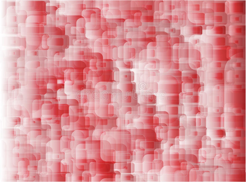 Geometric red and White Abstract Vector Background for Use in Design. rectangles with rounded corners abstract red. stock illustration