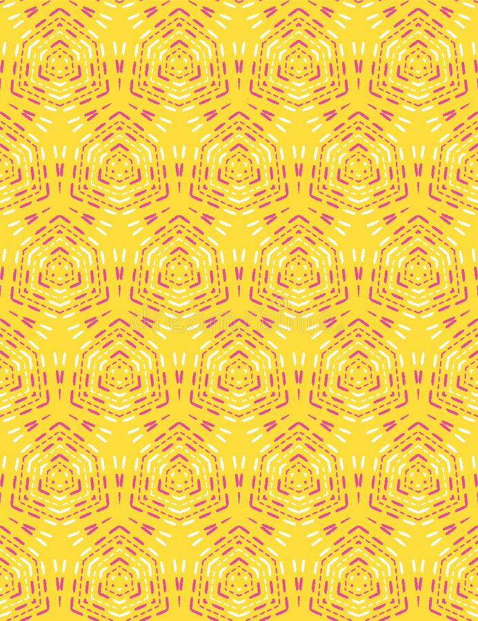 Geometric retro diamond stitch seamless pattern. All over print vector background. Ethnic summer boho fashion style. Trendy vector illustration