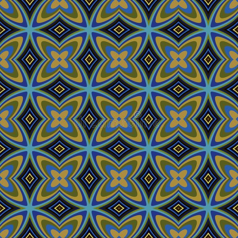 Geometric retro wallpaper seamless pattern stock for Object pool design pattern