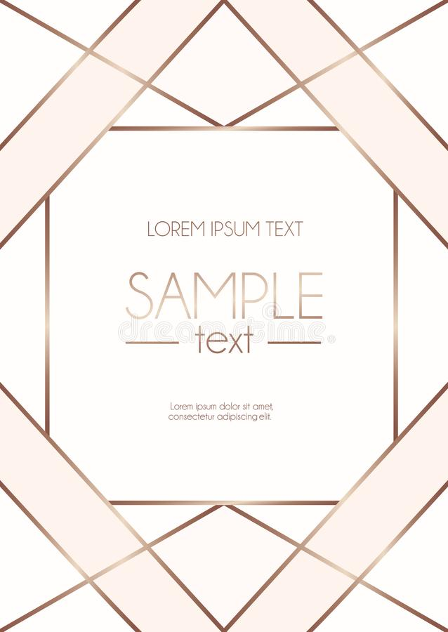 Geometric Rose Gold Design Template With Blush Pink And