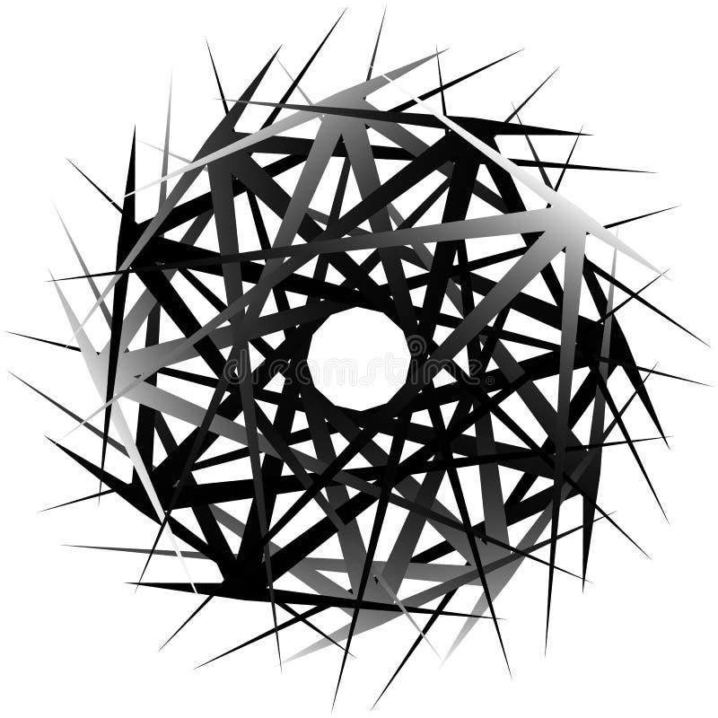 Geometric rotating form. Editable vector illustration. Royalty free vector illustration royalty free illustration