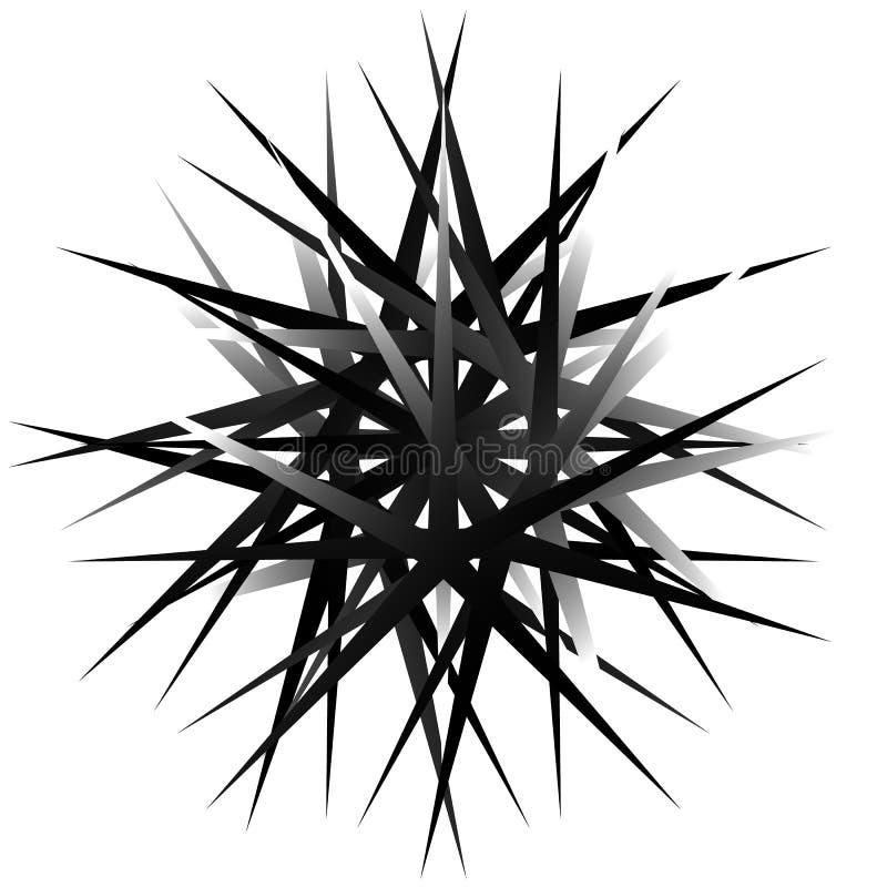 Geometric rotating form. Editable vector illustration. Royalty free vector illustration vector illustration