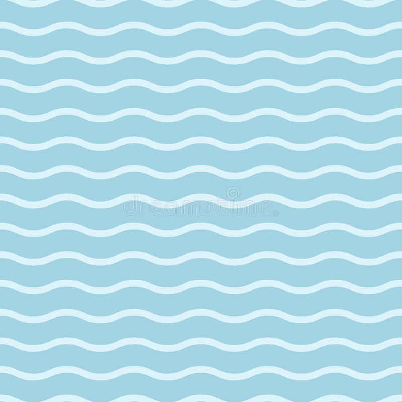 Geometric seamless background. Blue and white wallpaper with wave elements vector illustration