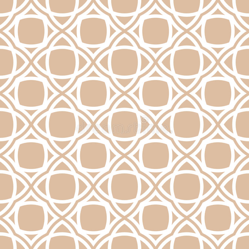 Geometric seamless background. Brown wallpaper with floral elements royalty free illustration
