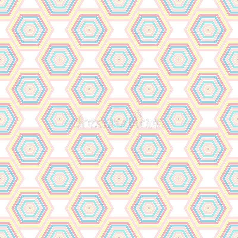 Geometric seamless background with hexagon ornaments. royalty free illustration
