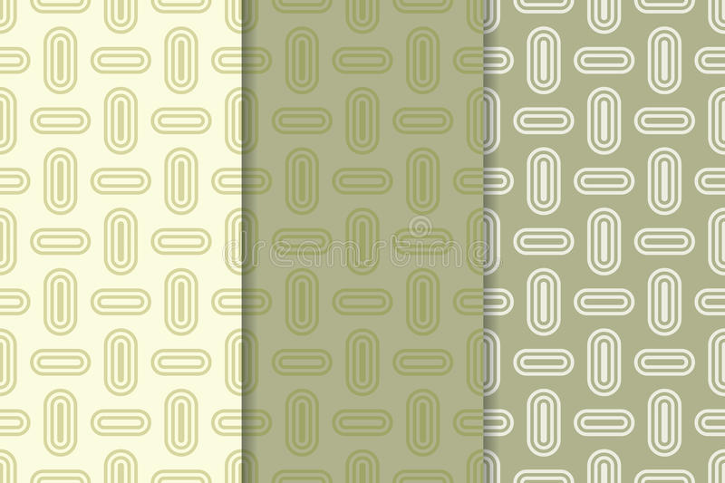 Download Geometric Seamless Background Olive Green Wallpaper With Oval Elements Stock Vector