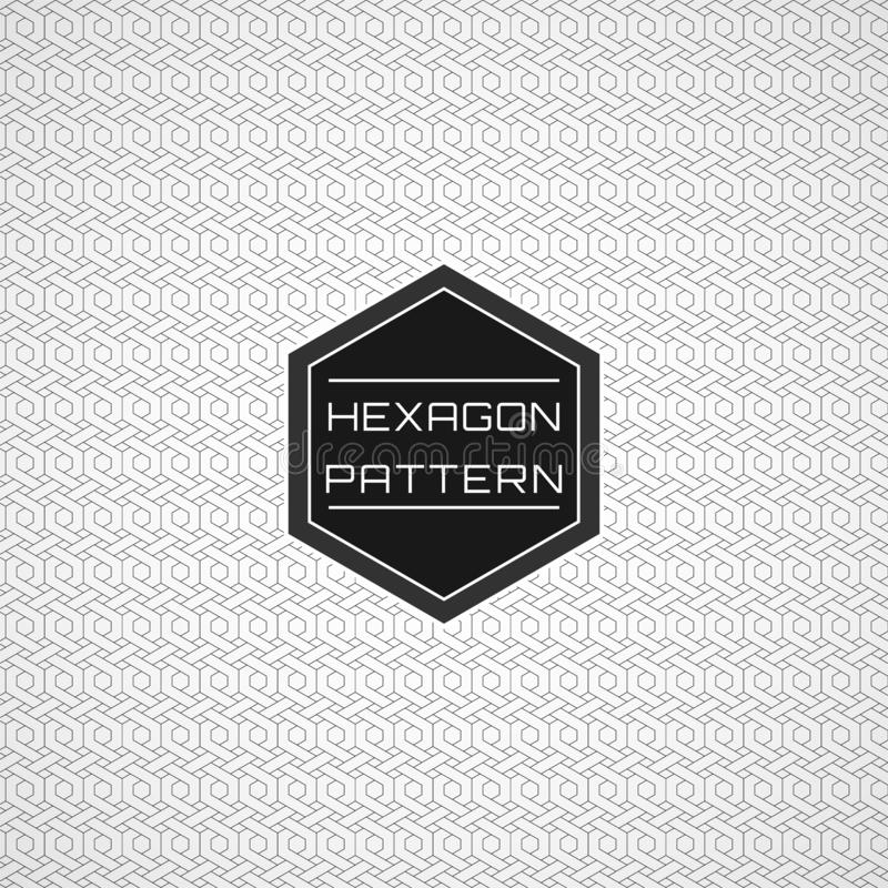 Geometric Seamless Line Art Hexagon Pattern Background. 01 vector illustration