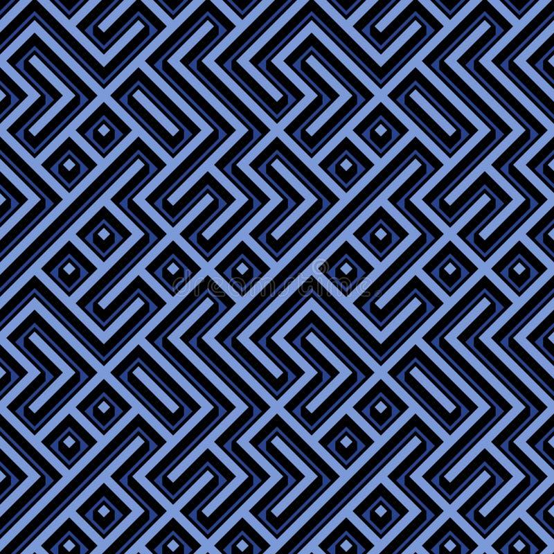 Download Geometric Seamless Pattern stock illustration. Image of seamless - 24713451