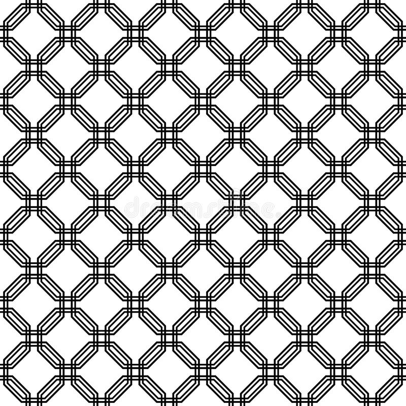 Geometric Seamless Pattern. Abstract Background Stock Vector