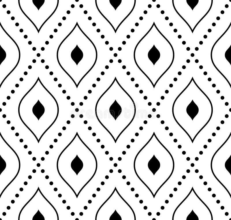 Geometric Seamless Pattern. Abstract Background stock illustration