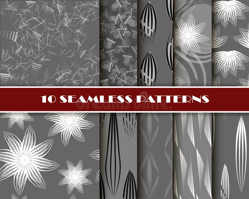 Geometric seamless pattern, abstract tiling background, vector repeat endless wallpaper illustration. royalty free illustration