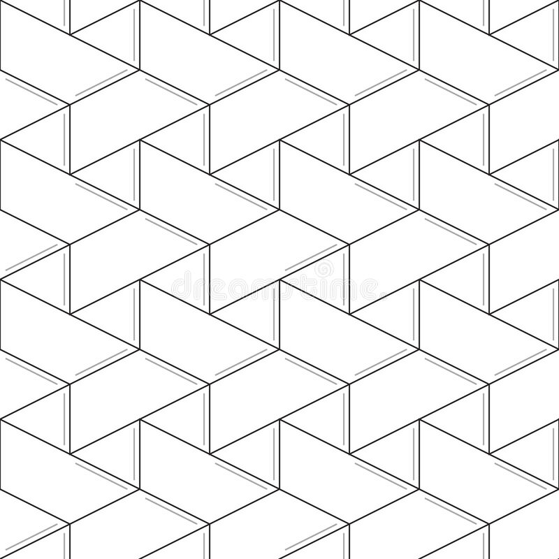 Geometric seamless pattern and background, linear design. Linear seamless pattern. Subtle geometric background. Thin lines royalty free illustration
